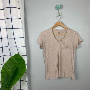 Madewell Whisper Cotton V-Neck Short Sleeve